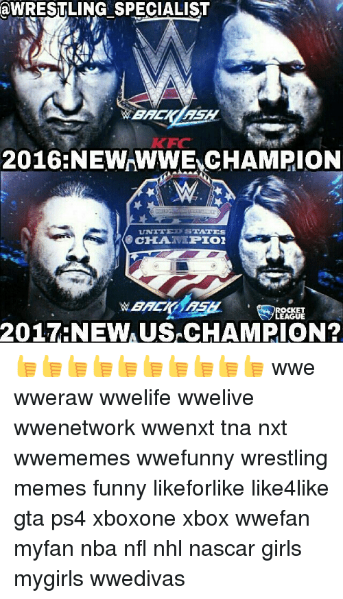 Funny, Girls, and Memes: aWRESTLING SPECIALIST  2016NEWWWE CHAMPION  UNITED S  TATES  OCHA.  PIOI  OCKET  GUE  2017-NEW 👍👍👍👍👍👍👍👍👍👍 wwe wweraw wwelife wwelive wwenetwork wwenxt tna nxt wwememes wwefunny wrestling memes funny likeforlike like4like gta ps4 xboxone xbox wwefan myfan nba nfl nhl nascar girls mygirls wwedivas