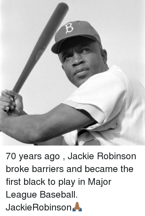 jackie robinson the first african american athlete who broke the color barrier in baseball Major league baseball continually celebrates the contributions of jackie robinson, its first african-american player, but the nfl's pioneer -- kenny washington -- isn't in the hall of fame.