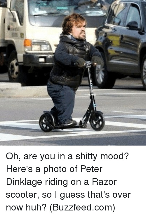 Best Memes About Photos Photos Memes - Photo of peter dinklage riding a scooter sparks funniest photoshop battle ever