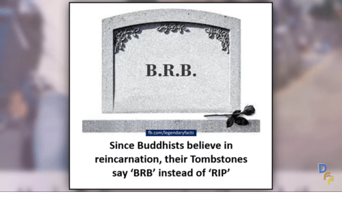 What do buddhists believe about reincarnation