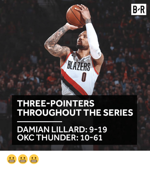 B-R BLAZERS THREE-POINTERS THROUGHOUT THE SERIES DAMIAN