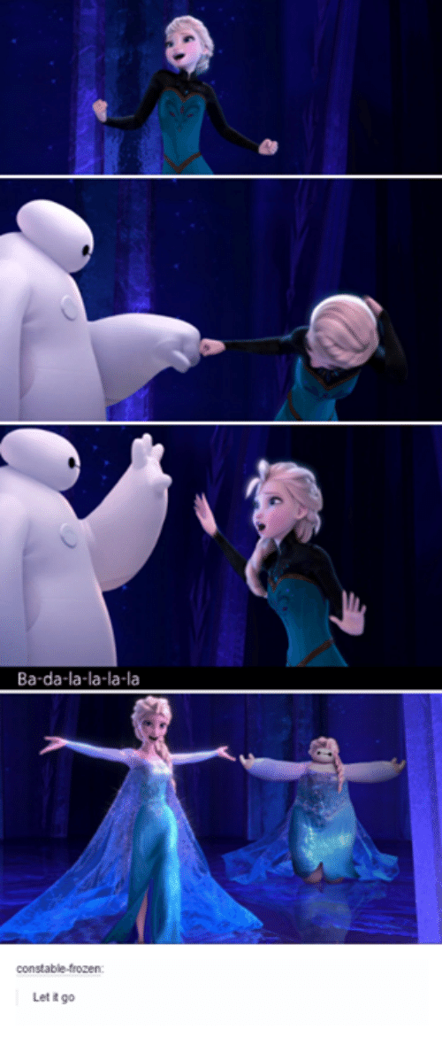 Ba-Da-La-La-La-La Constable-Frozen Let It Go | Frozen Meme on ME.ME