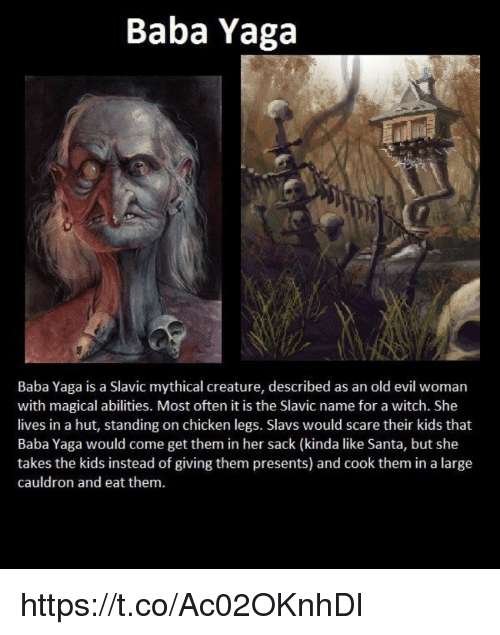 What does baba yaga mean