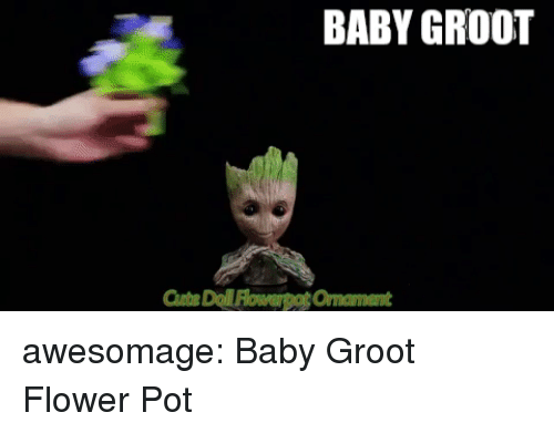 eBay, Tumblr, and Blog: BABY GROOT awesomage:   Baby Groot Flower Pot
