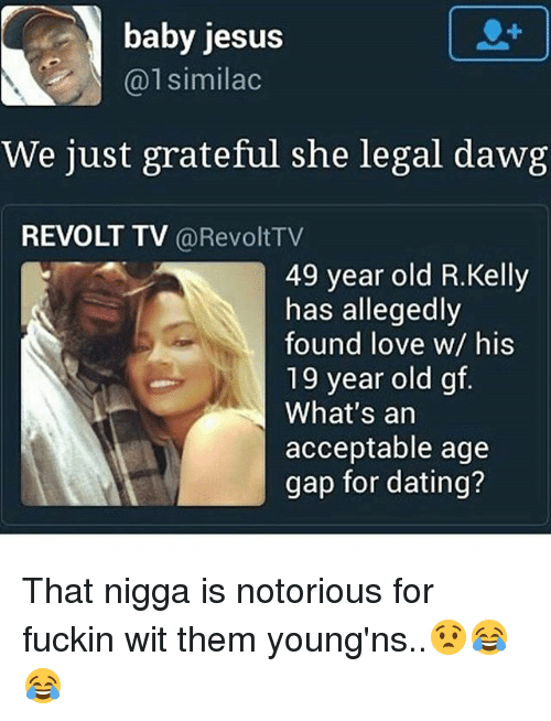 how big of an age gap is acceptable when dating