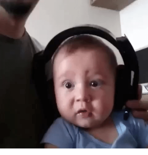 Funny, Death, and Time: Baby listens to death metal for the first time.