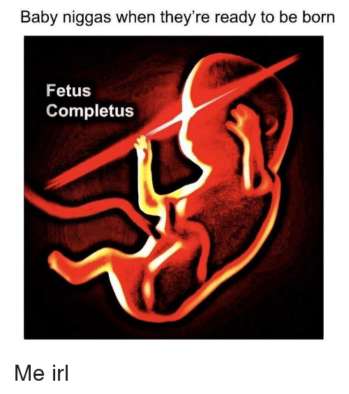 Strandstoel Baby Born.Baby Niggas When Th Ey Re Ready To Be Born Fetus Completus Irl