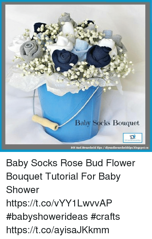 Baby Socks Bouquet DIY and Household Tips ...