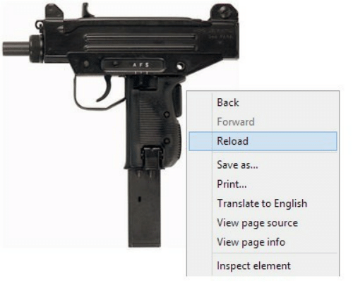 Translate, English, and Back: Back  Forward  Reload  Save as...  Print...  Translate to English  View page source  View page info  Inspect element