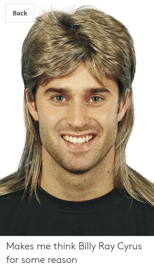 Reason, Back, and Billy Ray: Back Makes me think Billy Ray Cyrus for some reason