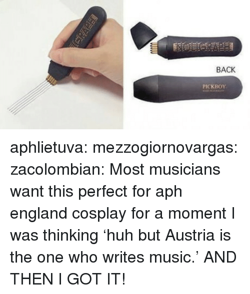 England, Music, and Target: BACK  PICKBOY aphlietuva:  mezzogiornovargas:  zacolombian:   Most musicians want this   perfect for aph england cosplay  for a moment I was thinking 'huh but Austria is the one who writes music.' AND THEN I GOT IT!