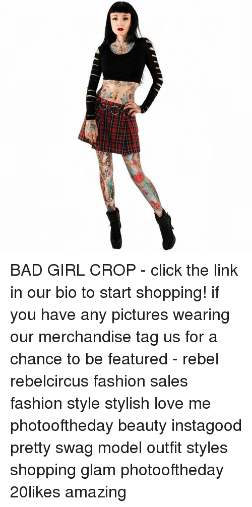 BAD GIRL CROP , Click the Link in Our Bio to Start Shopping! If You Have  Any Pictures Wearing Our Merchandise Tag Us for a Chance to Be Featured ,  Rebel