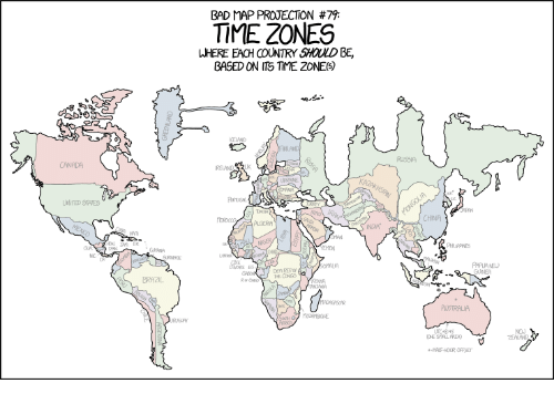 Bad Map Time Zones Based On Its Time 2ones 79 Here Each Country
