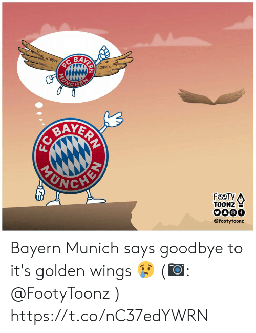 Memes, Wings, and Bayern: BAK  RIBERY  ROBBEN  YER  TOONZ  @footytoonz Bayern Munich says goodbye to it's golden wings 😢 (📷: @FootyToonz ) https://t.co/nC37edYWRN