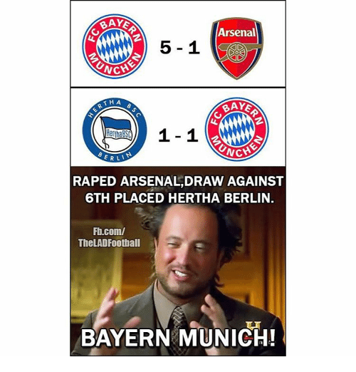 Baked, Memes, and Baking: BAKE  Arsenal  CATCH  THA  SRNCH  ERLI  RAPED ARSENALIDRAW AGAINST  6TH PLACED HERTHA BERLIN.  Fb.com/  TheLADFootball  BAYERN MUNICH!