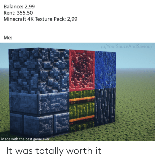 Best Minecraft Texture Packs 2020.Balance 299 Rent 35550 Minecraft 4k Texture Pack 299 Me Our