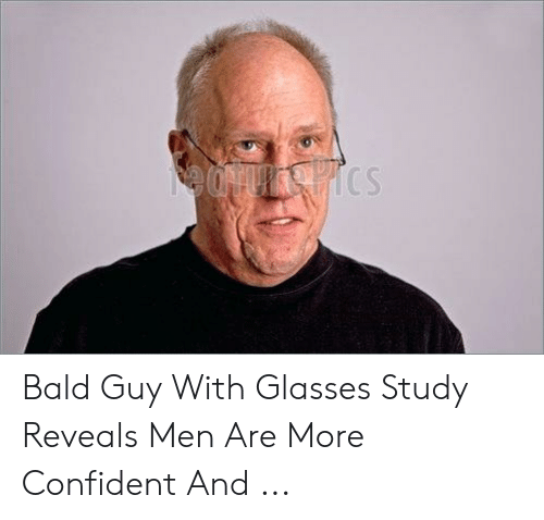 Download Bald Guy With Glasses Meme | PNG & GIF BASE