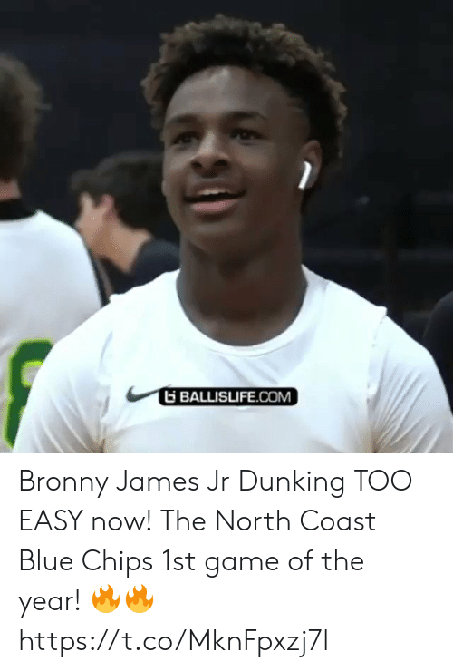 Sizzle: BALLISLIFE.COM Bronny James Jr Dunking TOO EASY now! The North Coast Blue Chips 1st game of the year! 🔥🔥 https://t.co/MknFpxzj7l