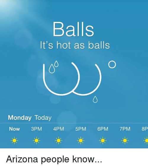 balls its hot as balls monday today now 3pm 4pm 21727384 ✅ 25 best memes about hot as balls hot as balls memes,Its Hotter Than Memes