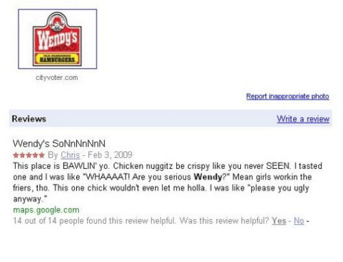 bamborgers cityvotercom reviews write a review wendy s sonnnnnnln by