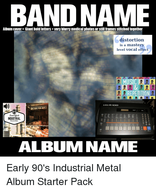 BAND NAME Album Cover Giant Bold Letters Veryblurrymedical Photos