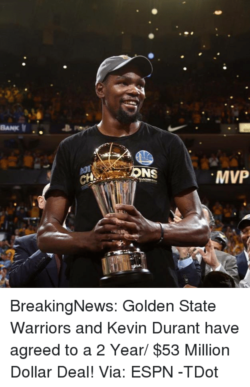 18e35fa9883 BANK v ONS MVP BreakingNews Golden State Warriors and Kevin Durant ...
