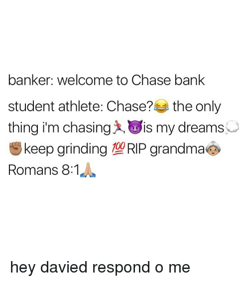 Chase Bank, Student, And Rip: Banker: Welcome To Chase Bank Student Athlete