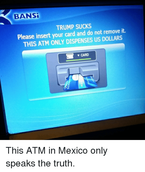 Bansi Trump Sucks It Please Insert Your Card And Do Not Remove This