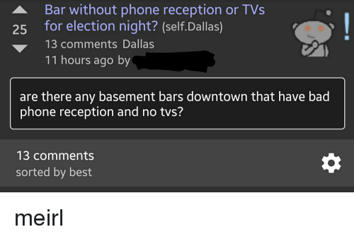 Bar Without Phone Reception or TVs 25 for Election Night