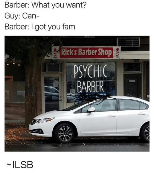 Rick'S Barber Shop >> Barber What You Want Guy Can Barber I Got You Fam Rick S Barber