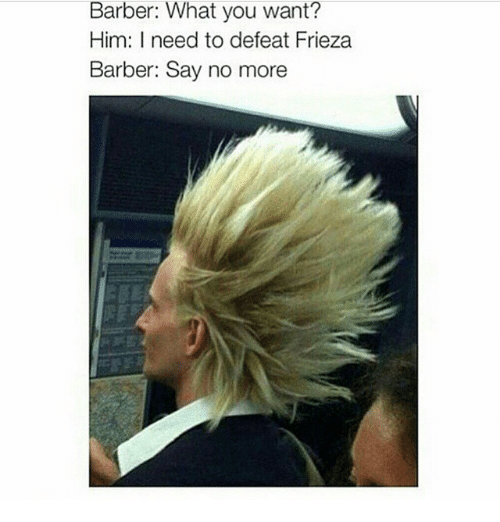 Barber What You Want? Him I Need to Defeat Frieza Barber ...