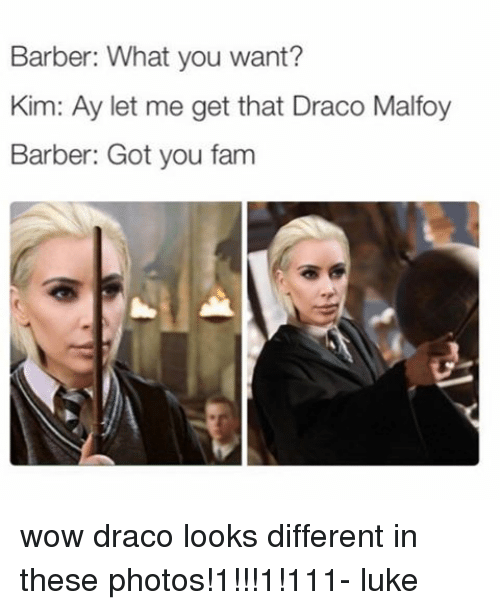 barber what you want kim ay let me get that 14976584 25 best draco malfoy memes their lives memes, undere memes, and memes