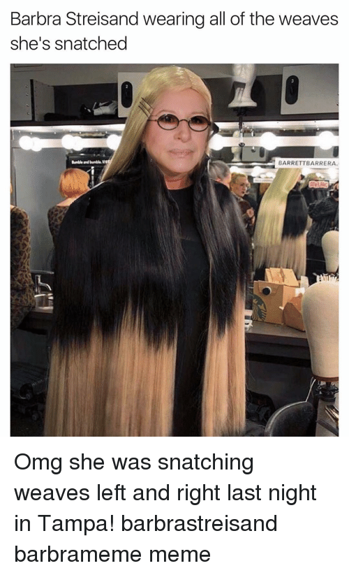 Barbra Streisand Wearing All Of The Weaves Shes Snatched Barrett