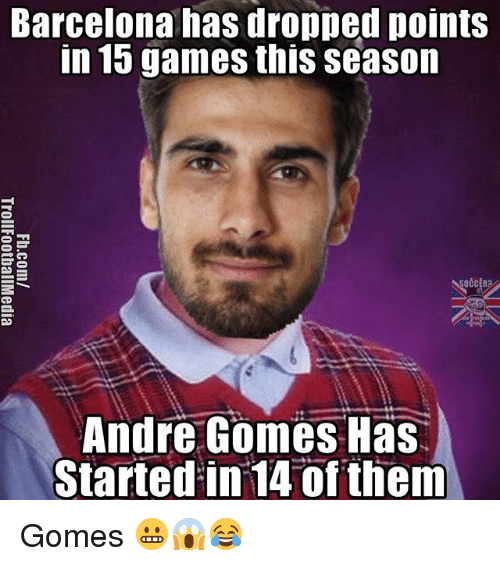 barcelona has dropped points in 15 games this season de 18736584 barcelona has dropped points in 15 games this season de andre gomes