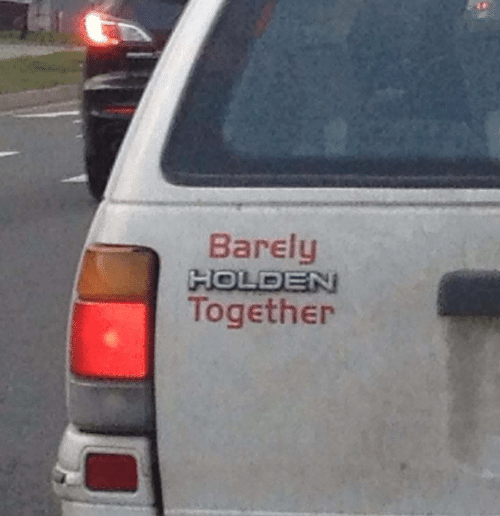 Holden, Together, and Barely: Barely  HOLDEN  Together
