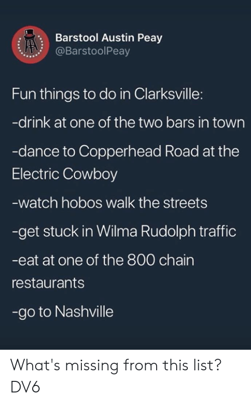 Barstool Austin Peay Fun Things to Do in Clarksville -Drink