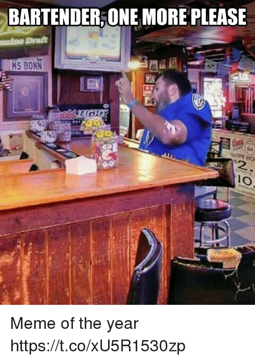 Football, Meme, and Nfl: BARTENDER,ONE MORE PLEASE  MS BONN  2 Meme of the year https://t.co/xU5R1530zp