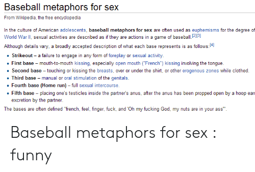 Metaphors for sex funny