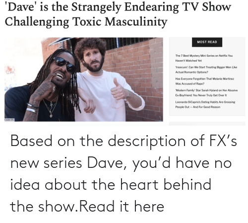 Target, Heart, and Http: Based on the description of FX's new series Dave, you'd have no idea about the heart behind the show.Read it here