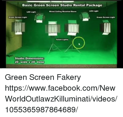basic green screen studio rental package led light led light studio