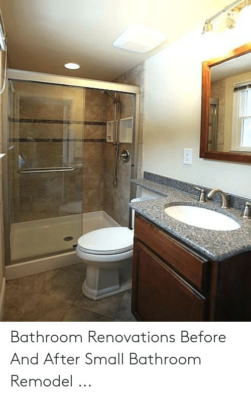. Bathroom Renovations Before and After Small Bathroom Remodel   Small