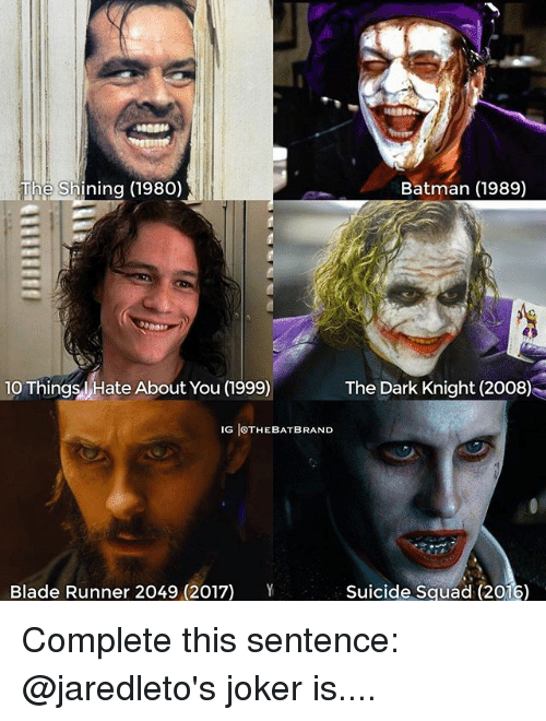 batman 1989 the shining 1980 10 things hate about you 20733506 ✅ 25 best memes about blade runner blade runner memes