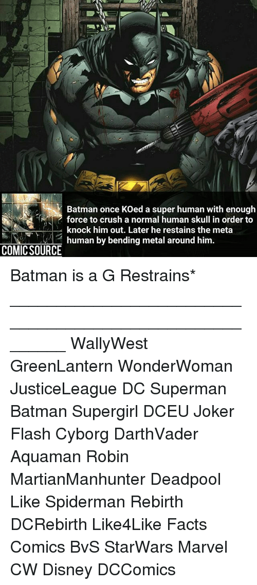 Batman Once KOed a Super Human With Enough Force to Crush a