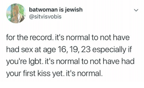 what age is it normal to have your first kiss