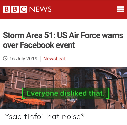 BBC NEWS Storm Area 51 US Air Force Warns Over Facebook