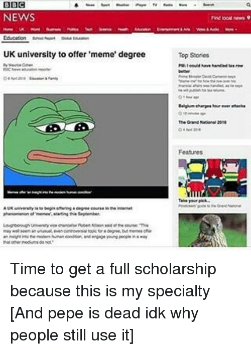 Bbc News Uk University To Offer Meme Degree Find Local Newn 9