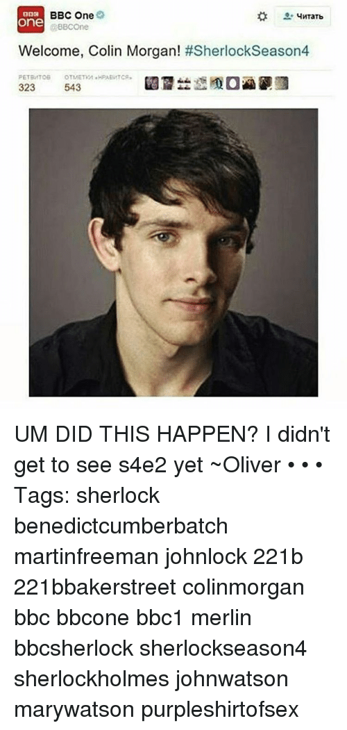 Colin Morgan Benedict Cumberbatch
