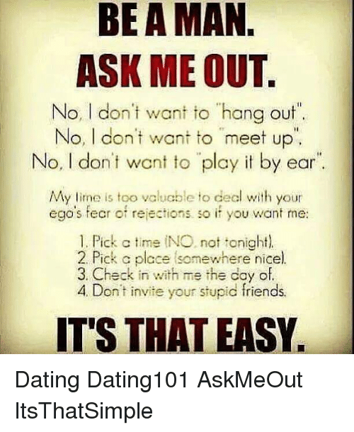 how to get a man to ask me out