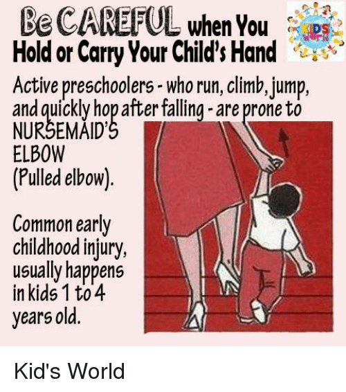 0c0d995e9a8 Be CAREFUL Hold or Carry Your Child s Hand Active Preschoolers- Who ...