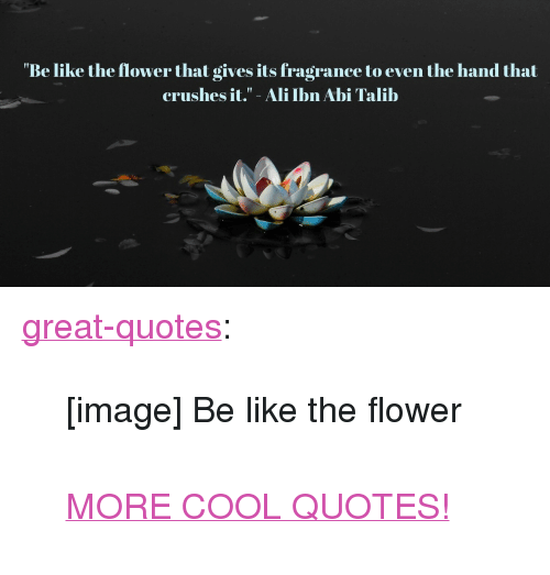 Be Like the Flower That Gives Its Fragrance to Even the Hand